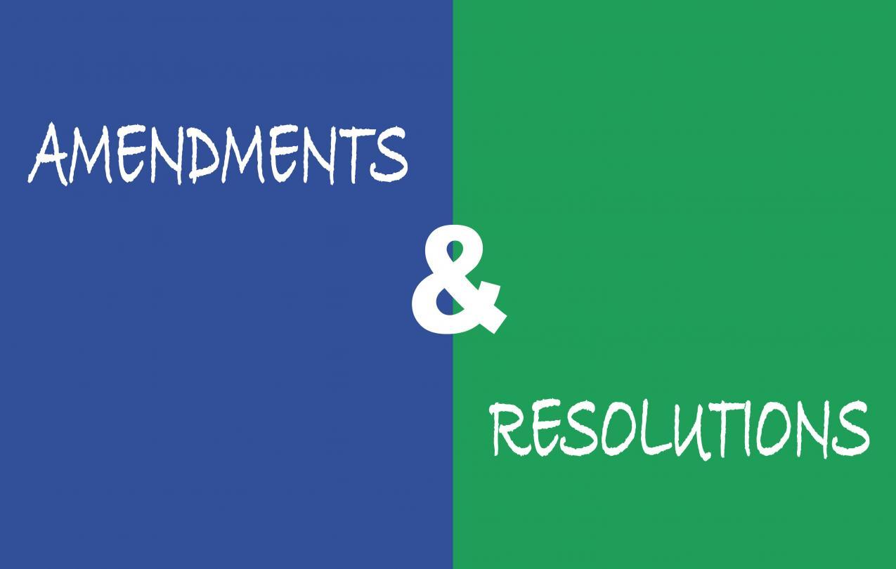Amendments and resolutions